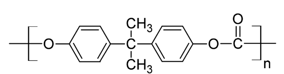 Polycarbonate from  Biphenyl A Chemical Structure